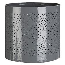 Premier Housewares Complements Small Hurricane Candle Holder - Grey Finish