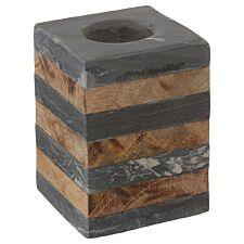 Premier Housewares Kata Small Candle Holder - Slate Mango Wood