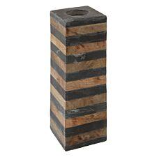 Premier Housewares Kata Large Candle Holder - Slate/Mango Wood