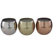 Premier Housewares Ayla Candles Wax Filled/Hammered - Set of 3