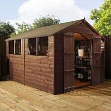 Mercia Pressure Treated Apex Shed - 10' x 8'
