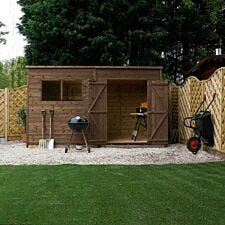 Mercia Pressure Treated Pent Shed - 12' x 8'