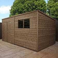 Mercia Pressure Treated Pent Shed - 14' x 6'