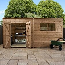 Mercia Pressure Treated Pent Shed - 14' x 8'