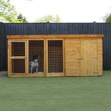 Mercia Berkshire Dog Kennel & Run - 10' x 4'
