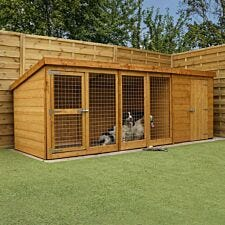 Mercia Berkshire Dog Kennel & Run - 12' x 4'
