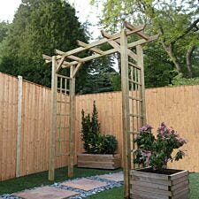 Mercia Flat Top Wooden GardenArch
