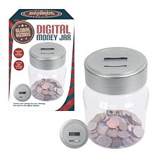Global Gizmos Battery Operated Digital Money Jar - Silver