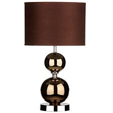 Premier Housewares Table Lamp in Copper Finish with Ceramic Ball Detail