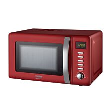 Beko MOC20200R 800W 20L Retro Compact Microwave - Red