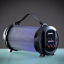 Daewoo LED Light Up Rechargeable Bluetooth Tube Speaker