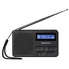 Daewoo Long Life Rechargeable DAB+ Radio - Black