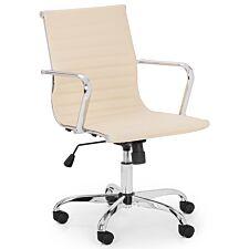 Julian Bowen Gio Ivory & Chrome Office Chair