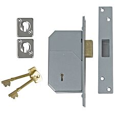 Union 3G110 C Series 5 Detainer Deadlock 73mm Satin Brass
