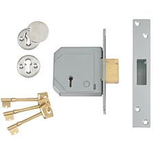Union 3G114E 5 Lever Mortice Deadlock C-Series 80mm 3in - Satin Brass
