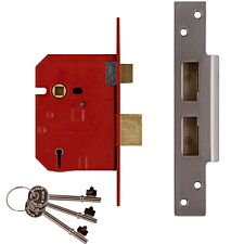 Union 2234E 5 Lever BS Mortice Sashlock Plated Brass Finish 67mm 2.5in Box