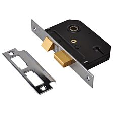 Union ES-DL Essentials 3 Lever Mortice Deadlock Chrome 79mm 3in Visi