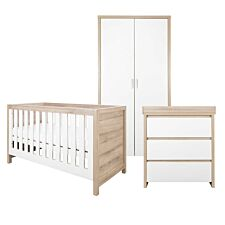 Tutti Bambini Modena 3 Piece Room Set – White and Oak