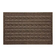 JVL Knit Design Scraper 40 x 60cm Brown Door Mat - Cable
