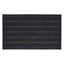 JVL Knit Design Scraper 45 x 75cm Charcoal Door Mat - Braided