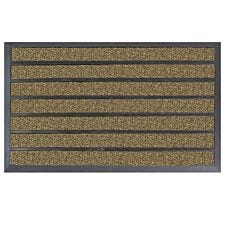 JVL Dirt Stopper Pro Rectangular Scraper 45 x 75cm Entrance Door Mat - Brown/Beige