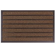 JVL Dirt Stopper Pro Rectangular Scraper 45 x 75cm Entrance Door Mat - Brown
