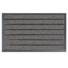 JVL Dirt Stopper Pro Rectangular Scraper 45 x 75cm Entrance Door Mat - Grey