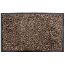 JVL Admiral Barrier Microfiber 50 x 80cm Door Mat - Brown