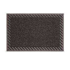 JVL Mud Grabber PVC Spaghetti 40 x 60cm Striped Door Mat - Brown
