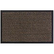 JVL Heavy Duty Commodore Backed Barrier Door Floor Mat Brown/Black 80 x 120cm
