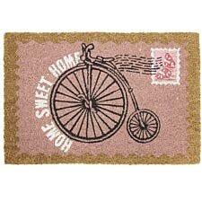 JVL Vintage Themed 'Bike' Latex Backed Doormat - 40x60cm