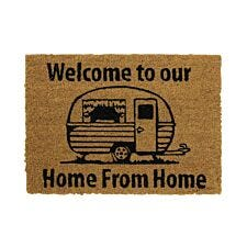 JVL Caravan 36 x 50cm Latex Backed Coir Entrance Door Mat – Welcome To Our Home