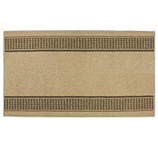 JVL 67x120cm Bergamo Runner Machine Washable Doormat - Beige/Brown