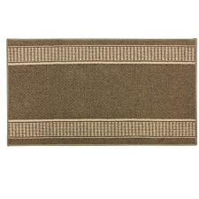 JVL 67x120cm Bergamo Runner Machine Washable Doormat - Brown/Beige