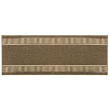 JVL 67x180cm Bergamo Runner Machine Washable Doormat - Brown/Beige