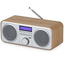 Akai Oak Effect Wood Stereo Radio