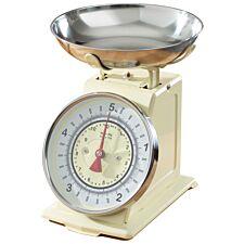 Robert Dyas Mechanical Kitchen Scales - Cream