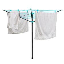 JVL Compact and Robust Three-Arm Steel Rotary Clothes Airer Drier 40m