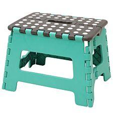 JVL Small Folding Step Stool Turquoise/Grey