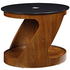 Jual San Marino Walnut Oval Lamp Table
