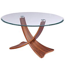 Jual Siena Walnut & Glass Coffee Table