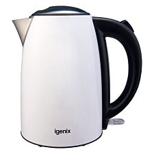Igenix IG750W 1.7L Stainless Steel Jug Kettle - White
