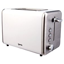 Igenix IG3000W 2-Slice Stainless Steel Toaster - White