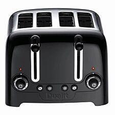 Dualit DA6205 4-Slot High Gloss Lite Toaster - Black