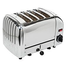 Dualit DA0040 4-Slice Classic Toaster - Polished Stainless Steel