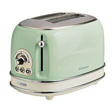 Ariete AR5514 Vintage 2–Slice Toaster – Green