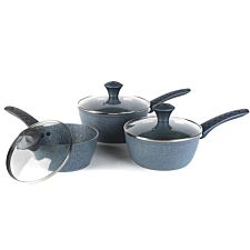 Salter Diamond Tech 3pc Pan Set - Blue