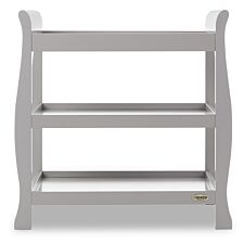 Obaby Stamford Sleigh Open Changing Unit - Warm Grey