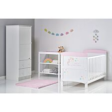Obaby Grace Inspire 3 Piece Room Set & Changing Mat - Unicorn