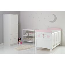 Disney Minnie Mouse 3 Piece Room Set & Changing Mat - Hearts
